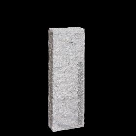 Palisade Granit Naturstein Hellgrau 300 x 25 x 10 cm Granitpalisade