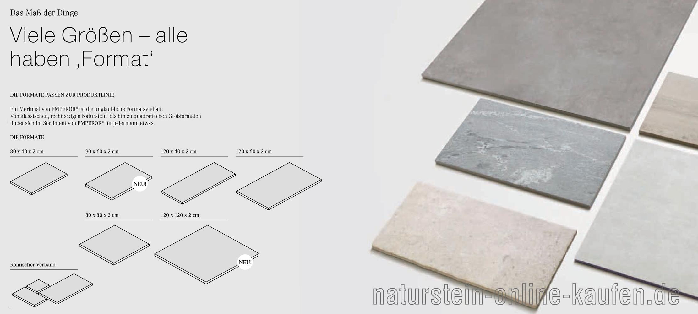 Emperor Terrassenplatten Formate Naturstein Online Kaufen De